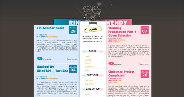 Rin-Wendyウェブサイト
